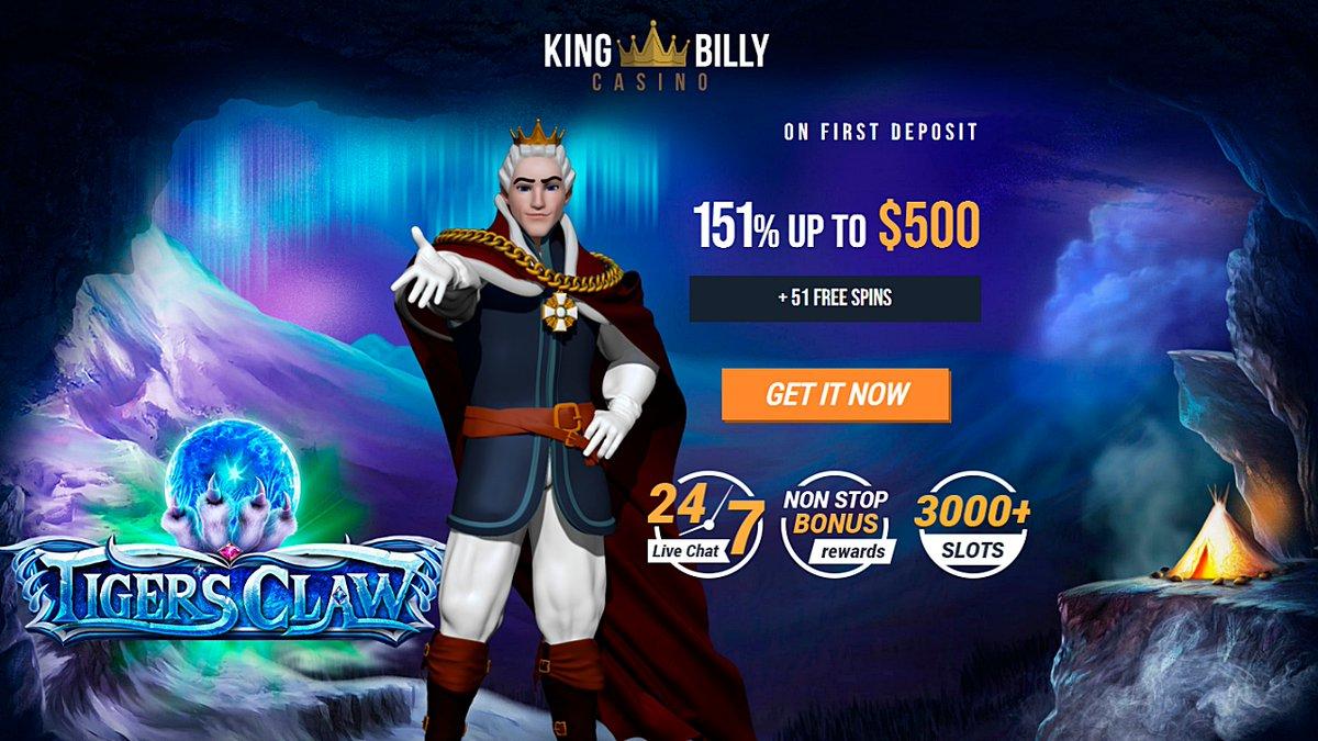 Latest King Billy casino bonuses https://t.co/15nTxlEI8N #casino #match #slots #freespins #bonus #CouponCode #casinobonus #casinoUSA #CasinoAustralia #KingBilly https://t.co/hPRUryu7p0