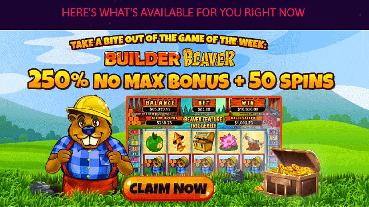 RTG game of the week: 250% bonus + 50 free spins on Builder Beaver https://t.co/JpLSNUT9o3 via #casino #match #slots #freespins #bonus #CouponCode #casinobonus #casinoUSA #CasinoAustralia https://t.co/JcgxqDvrFu