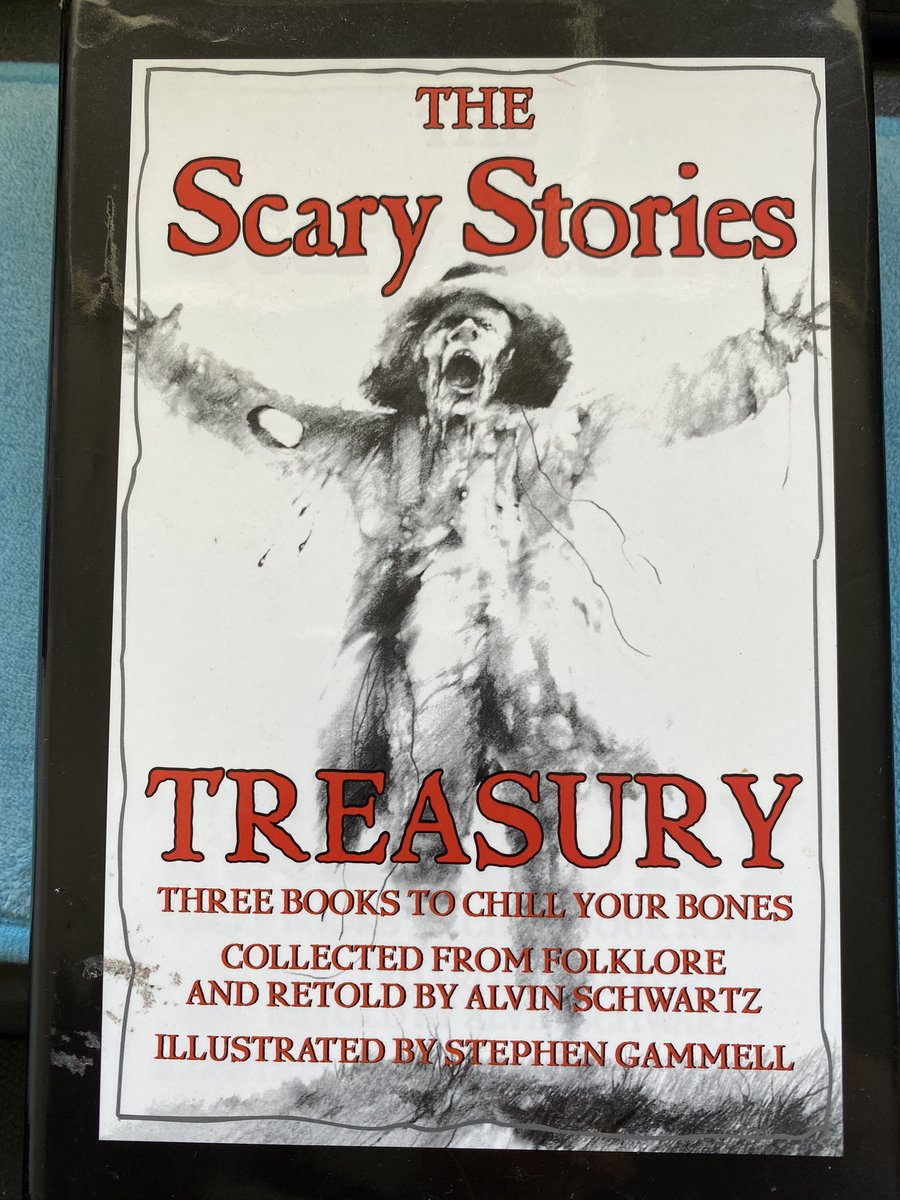 Packing up and can't believe I still have this! Started reading this book when I was 9 or 10. Shows my love for the scary has been deep rooted in me for a long time!  #scarystories #HorrorFan #memoriespic.twitter.com/eNi1y9UAOz