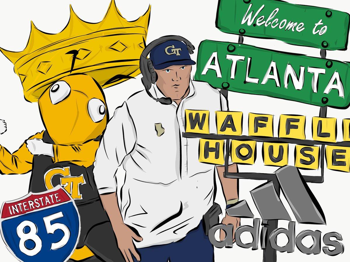 WELCOME to ATLANTA!!! @GeorgiaTechFB @CoachCollins #meGaTron21 #4the404 🏆 🏆 🏆 🏆
