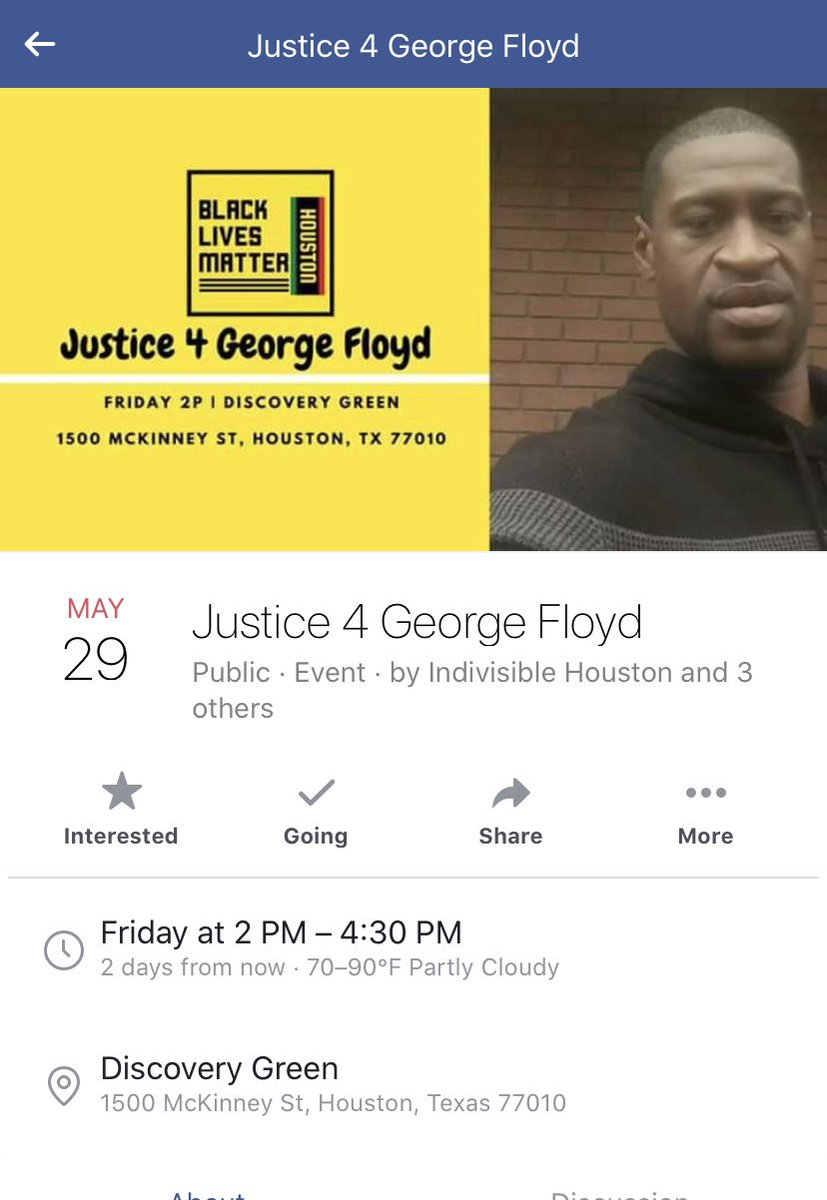 there's a protest in #houston #htx on friday! #BlackLivesMatter #BlackLivesMatterHoustonpic.twitter.com/IzNo4d0CBY