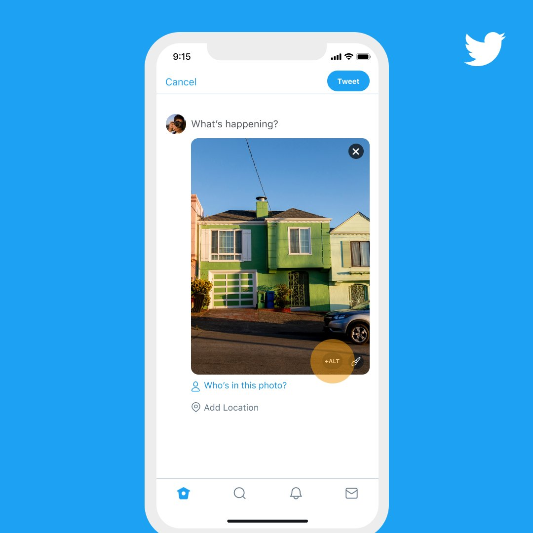 Adding descriptions to images is a great way to include everyone in your conversation. These descriptions, aka alt-text, enable folks who use screen readers to interpret images in Tweets. Starting today, you no longer need a setting to add alt text and it's available on 📱 & 💻. https://t.co/wRDJZwSihL
