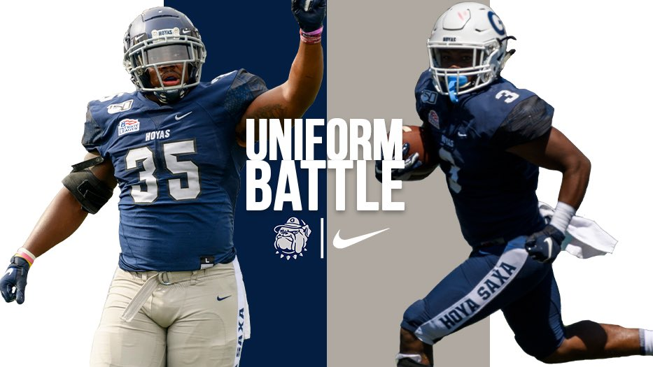 It's time for the 2nd semifinal of our #UniformBattle! Which uniform combo did you like from the 2019 season? Vote here and on our Instagram Story! #HoyaSaxa #DefendtheDistrict