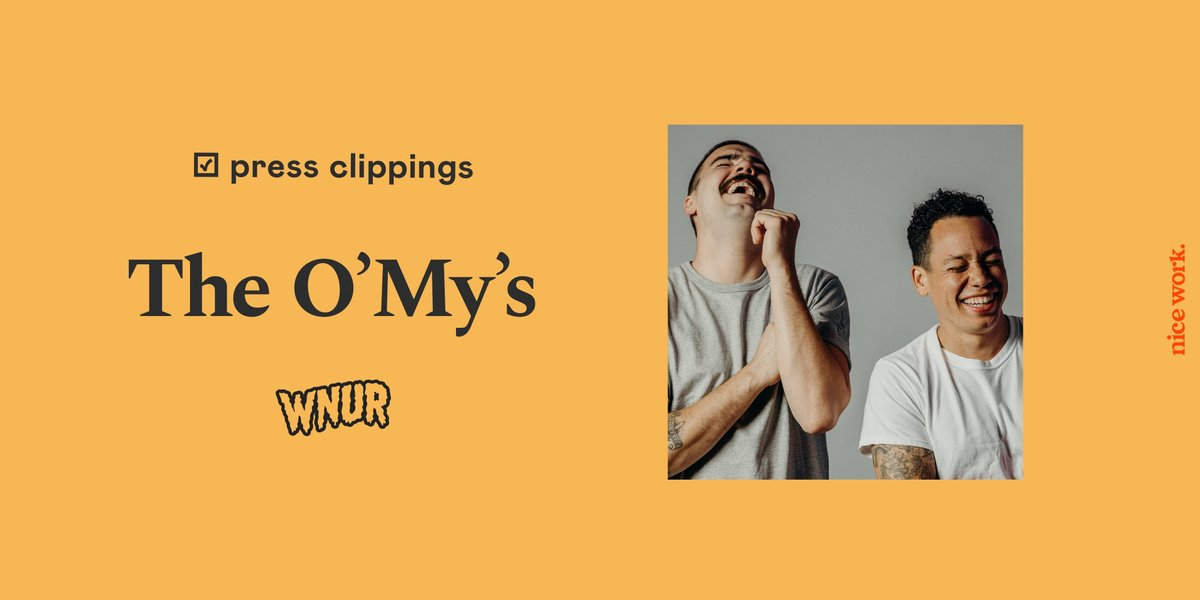 Read: A Conversation w/ @TheOmysband for @WNUR893   Full interview available here: soo.nr/sark