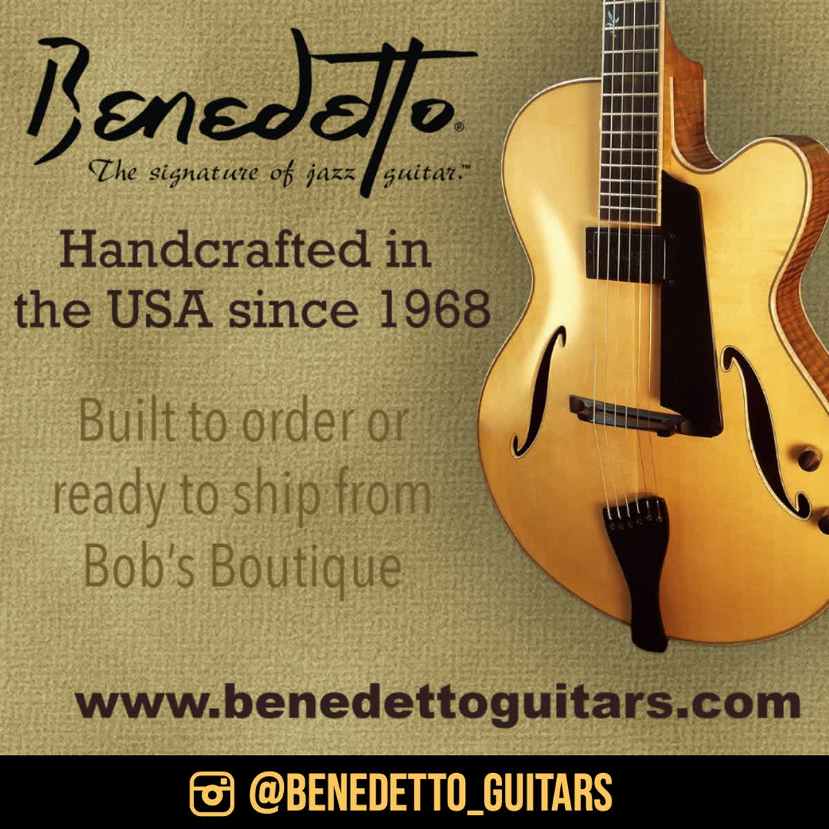 @BenedettoGuitar, American made archtop jazz guitars, played by four generations of jazz masters.  VIEW >>> https://qoo.ly/367w2y   #archtop #archtopguitar #benedetto #benedettoguitars #jazzguitartoday #jazzguitar #jazz #guitarpic.twitter.com/XRzzuDsvXr