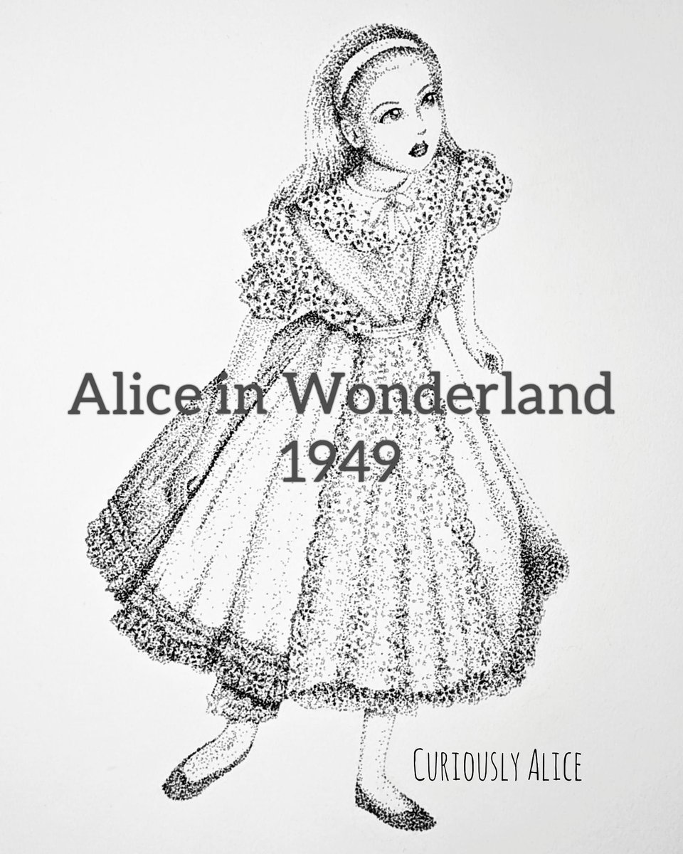 Alice in Wonderland 1949  I made an oopsie! I was under the impression that this movie was black and white and it turned out to be the first Alice movie in color, whoops!  #AliceInWonderland #AliceTimeline #ArtistOnTwitterpic.twitter.com/5iC3GxnbJb