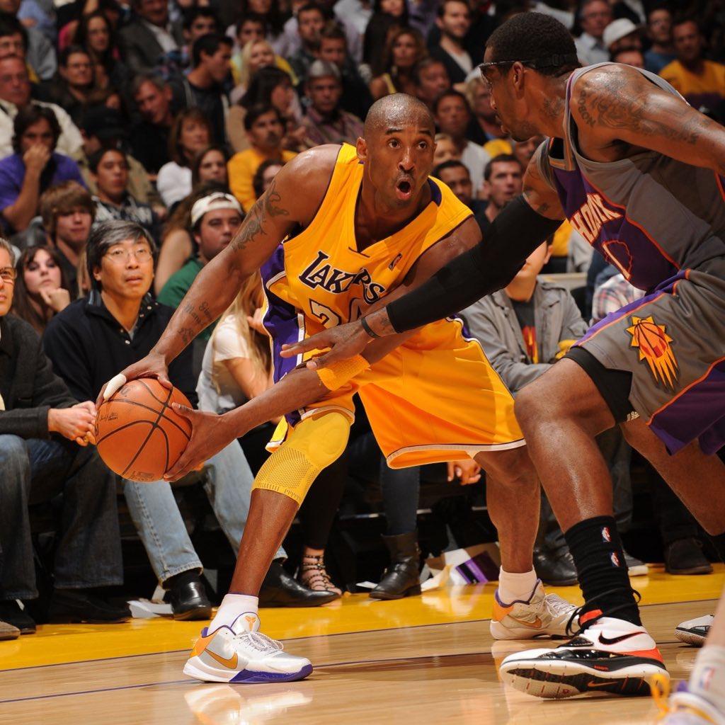 Nike Kobe 5 'Lakers' from Kobe Bryant on this date 10 years ago.   #NBATogetherLive #NBAKicks https://t.co/jV81N7FGAx