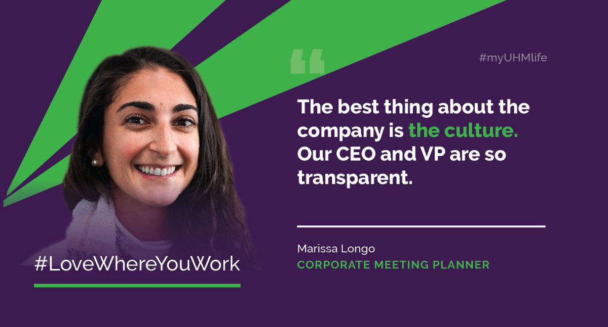 Our culture at UHM is second to none. We're raving fans of every UHM Partner! #myUHMlife #lovewhereyouwork <br>http://pic.twitter.com/tqCnygvQlt