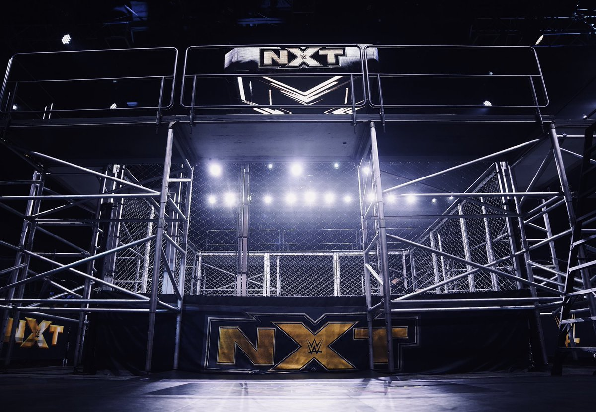 Tonight @SuperKingofBros and Timothy Thatcher enter the #WWENXT Fight Pit for a #CageFight with special guest referee, @WWE Hall of Famer, @RealKurtAngle!   See it TONIGHT at 8pm ET on @USA_Network! #WeAreNXT https://t.co/HDlzmBn1cC