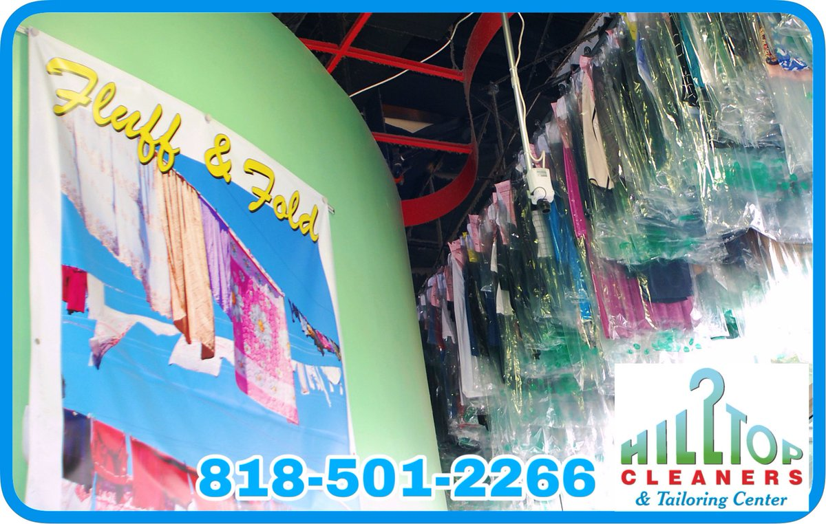 #hilltopcleaners, #encino is here to take care of all ur #drycleaning, #laundry and #fluffandfold needs. Come on in today, WE ARE OPEN!! Just for you. #freedelivery #tarzana #shermanoaks #alterations #tailoring pic.twitter.com/BcyxYAK9S0