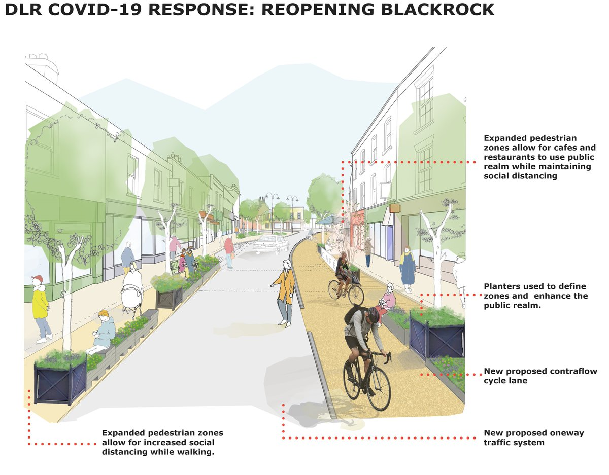 Blackrock village is getting wider footpaths, new trees, café seating, planters, a cycle lane, new surfaces. Work starts on 8th June. <br>http://pic.twitter.com/PTUEEFFRdq