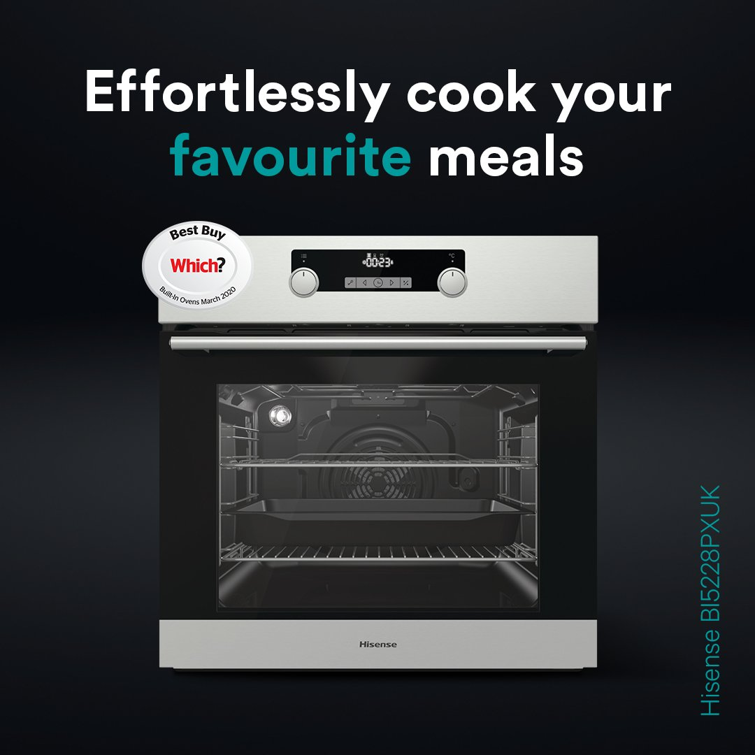 ✔️ @WhichUK Best Buy  ✔️ Pyrolytic self-cleaning technology ✔️ LED touch screen  What's stopping you?! Upgrade your cooking today 🙌  Discover the Hisense oven range  👉 https://t.co/sSMXBtXyf7 👉 https://t.co/yNtvM2BE4z https://t.co/28SOgDBCDB