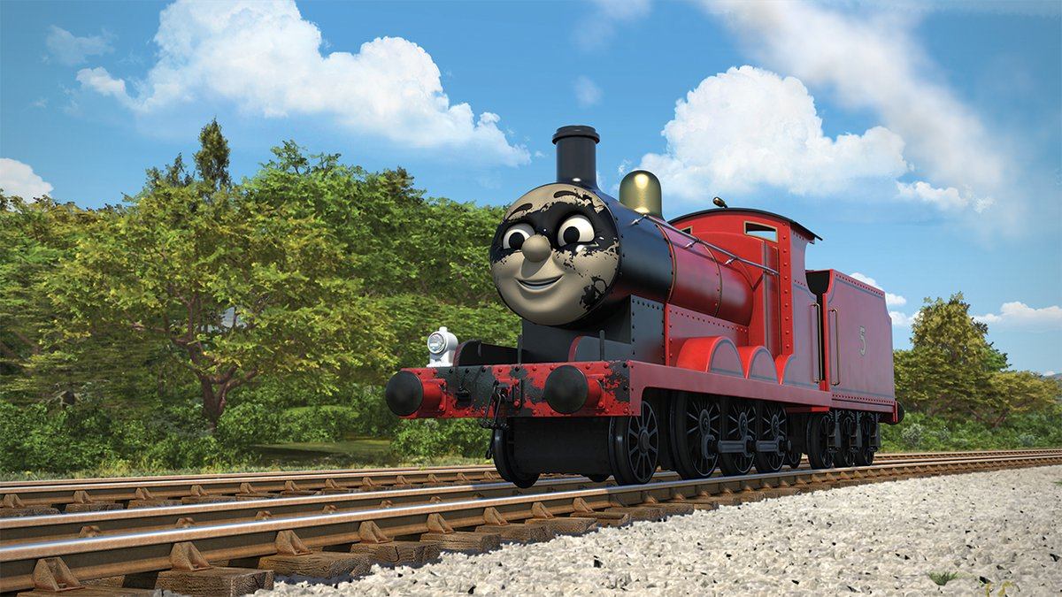 I've noticed that in most of what has been seen of S24, there is a callback/reference to older classic episodes.  James covered in tar at Maron in Super Engine Runaway jet engine in A New Arrival Old Iron style stopping in World of Tomorrow Sir Topham the fireman in Royal Engine <br>http://pic.twitter.com/NeQr1EH16v