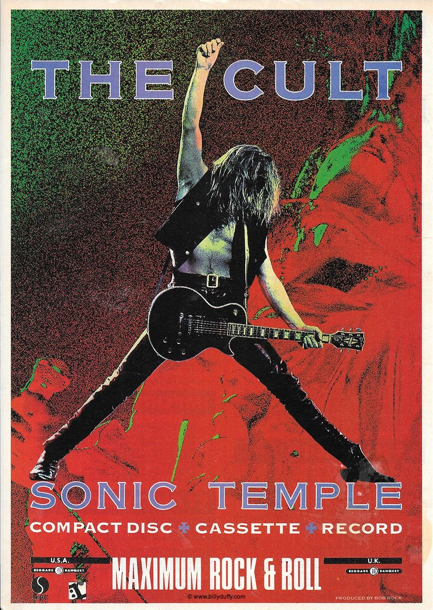 On This Day - May 27th 1989. The Cults Sonic Temple peaks at #10 on Billboards 200 album chart. It spends 33 weeks on the chart. The band used 3 drummers in the making of the album including KISS' Eric Singer. However, it's Bryan Adams' Mickey Curry that everyone gets to hear.