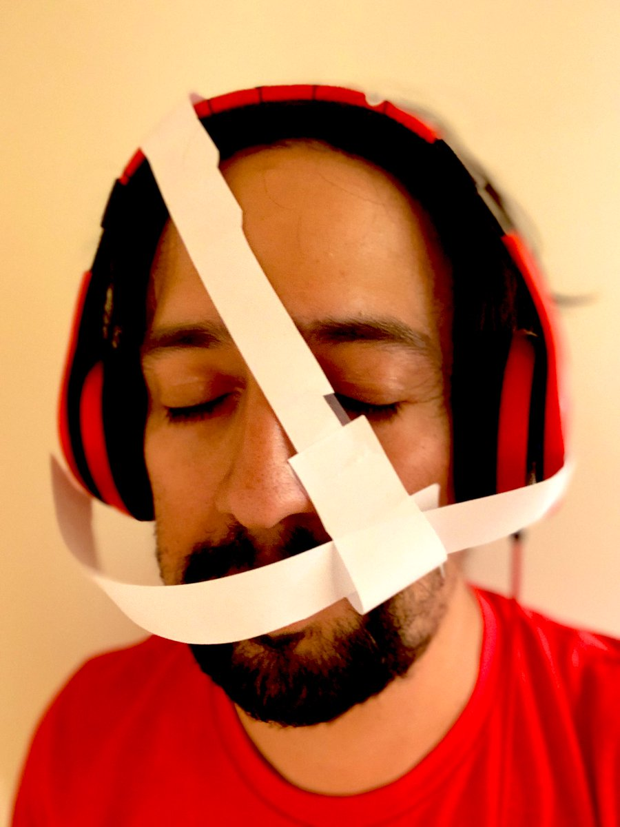 """Update: after some """"research,"""" he's determined that to get in shape like The Rock, I have to play basketball twice a day. Then he made me this protective face mask. twitter.com/lin_manuel/sta…"""