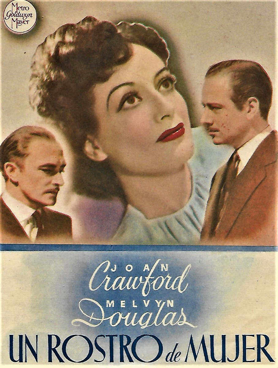 Isn´t an irony that one of the most solid and better movies of #JoanCrawford at MGM came in her decline as one of the queens of the lot?  This is the herald designed for the release of #AWomansFace in Spain in 1944.  #Classicactor #classicmovies #GeorgeCukor #OldHollywood <br>http://pic.twitter.com/i38I0TgijP