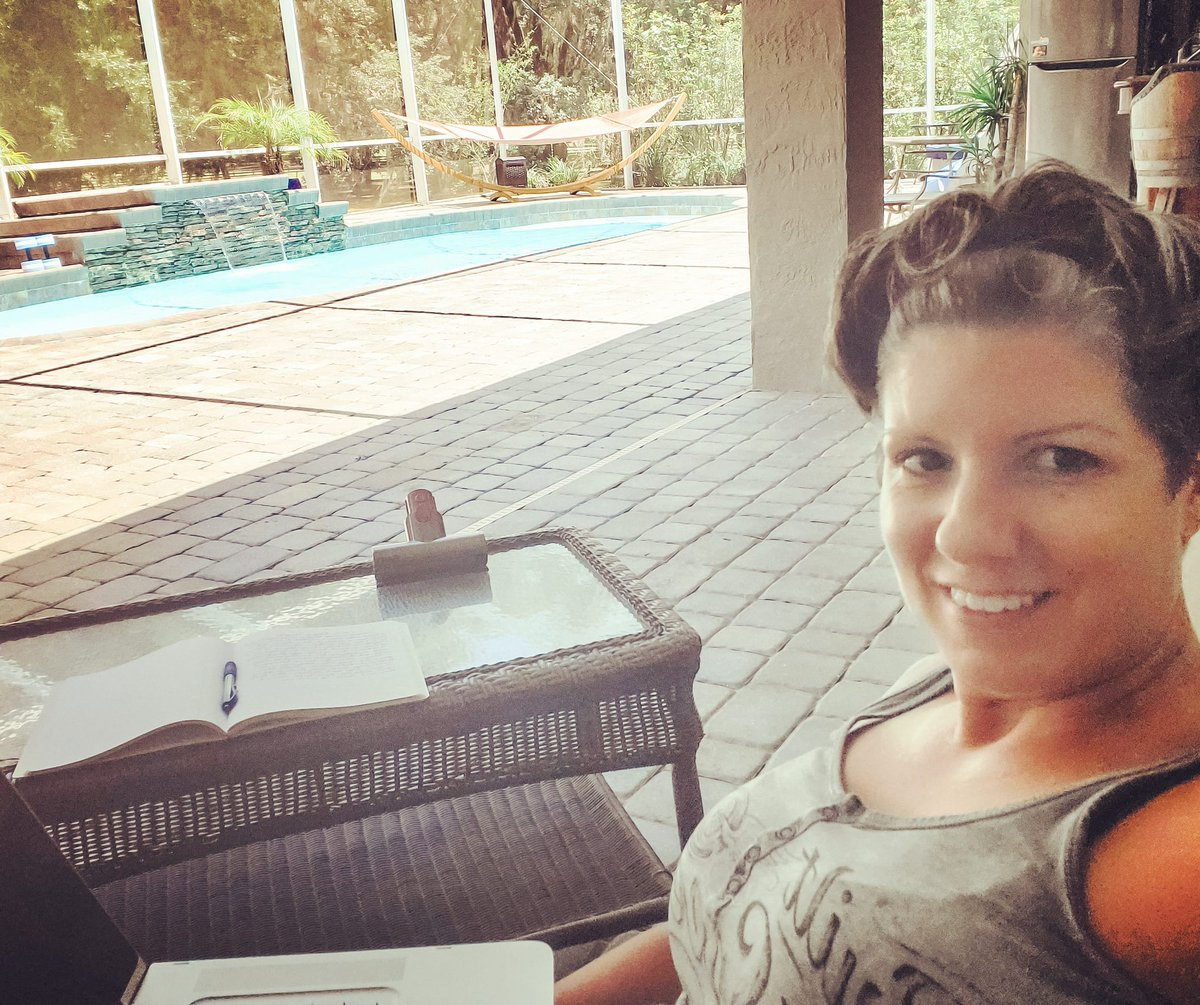 I do my best work when I'm sitting by the pool. Where does creativity strike you? #WritingCommunity #writerscommunity #amwriting #amediting #newadultauthorpic.twitter.com/SDYEbVpQHB