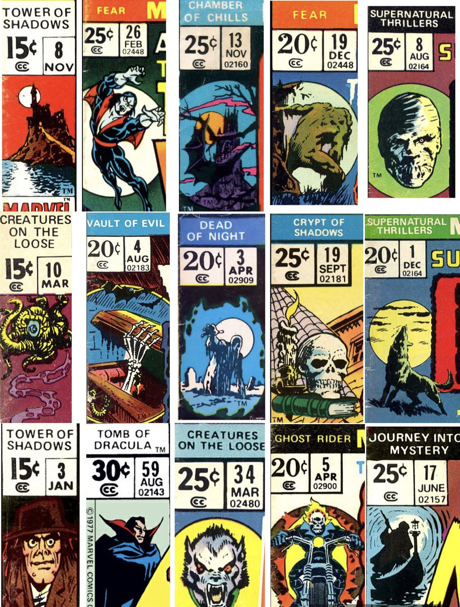 #Marvel's #comic corner box art was out of this world. Their #horror titles sported some particularly fine examples.  #comics #horrorfamily #comicfampic.twitter.com/CJYDQpQExy