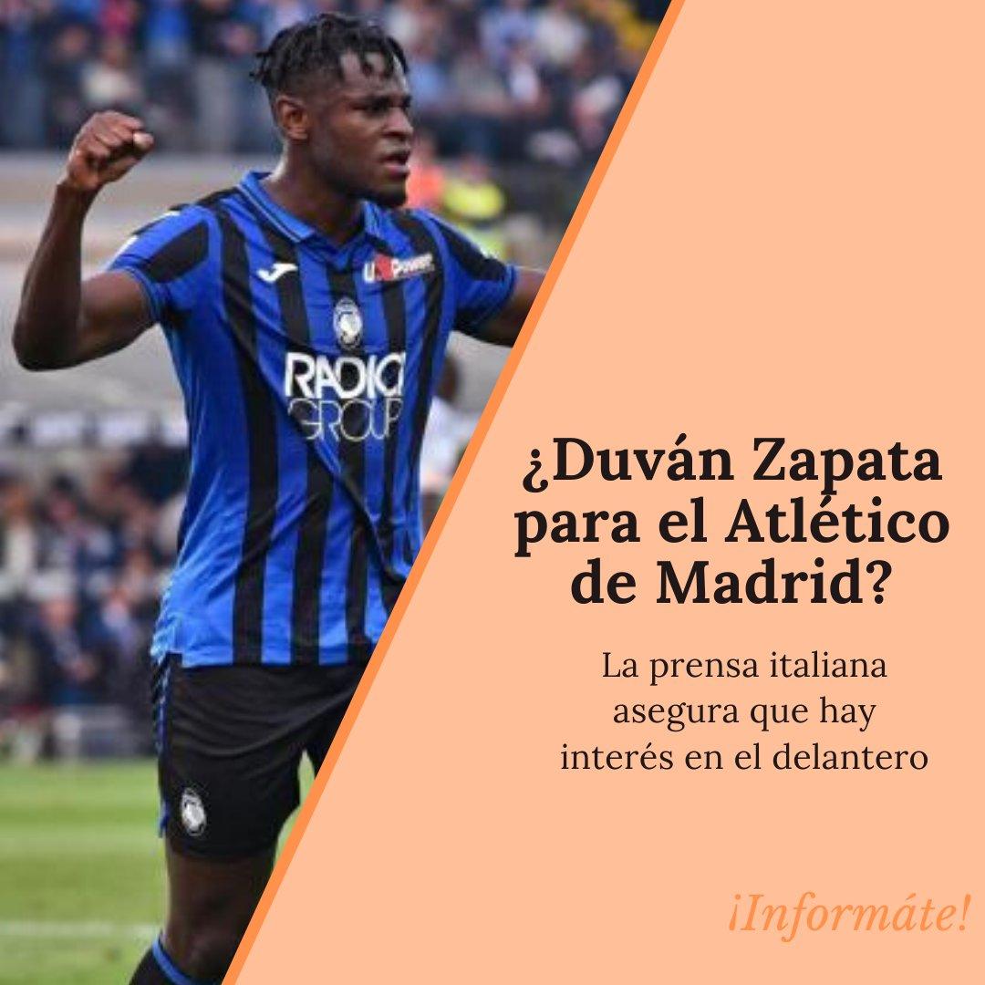 Duván Zapata vuelve a ser noticia en Europa debido a que ha sido relacionado con el interés que tiene el Atlético de Madrid por contratarlo. #Futbol #duvanzapata #AtleticoMadrid #Europa #Colombia #Deportes #SportsNews pic.twitter.com/hV8ZsB3eys