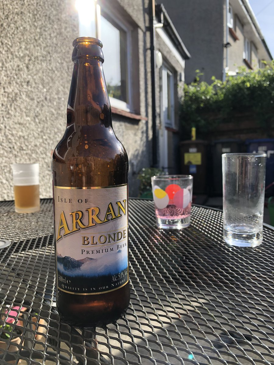 I still don't have a reason not to. So I will. @ArranBrewery