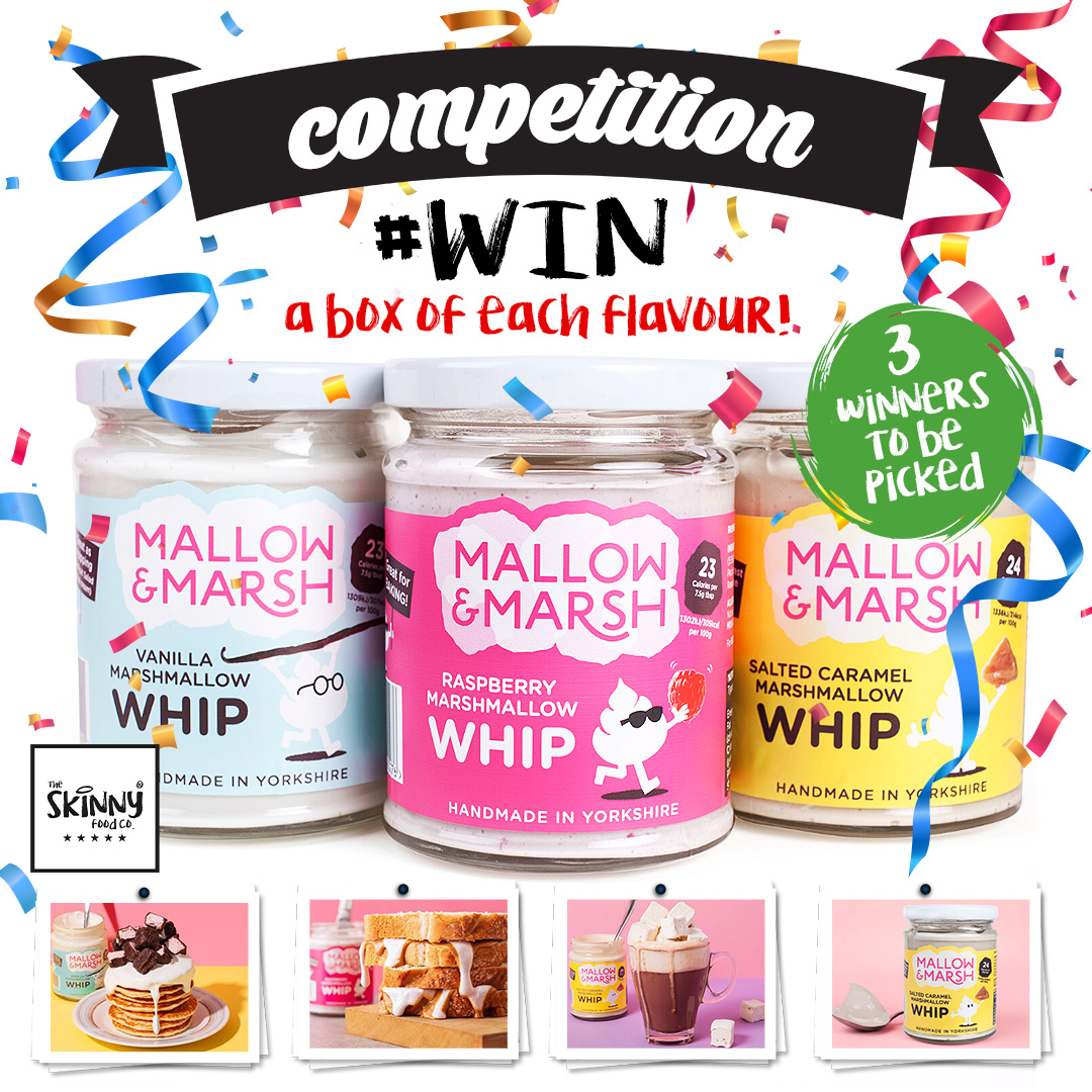 COMPETITION TIME 🎉😍 We are picking 3 lucky winners to #WIN a box of each flavour of Mallow & Marsh Whips! 🤩 To enter: - Follow @skinnyfoodco - Share the post to your stories - Tag a friend Winner will be announced on Tuesday 2nd June 🤩 #SkinnyFoodCo #NotGuilty
