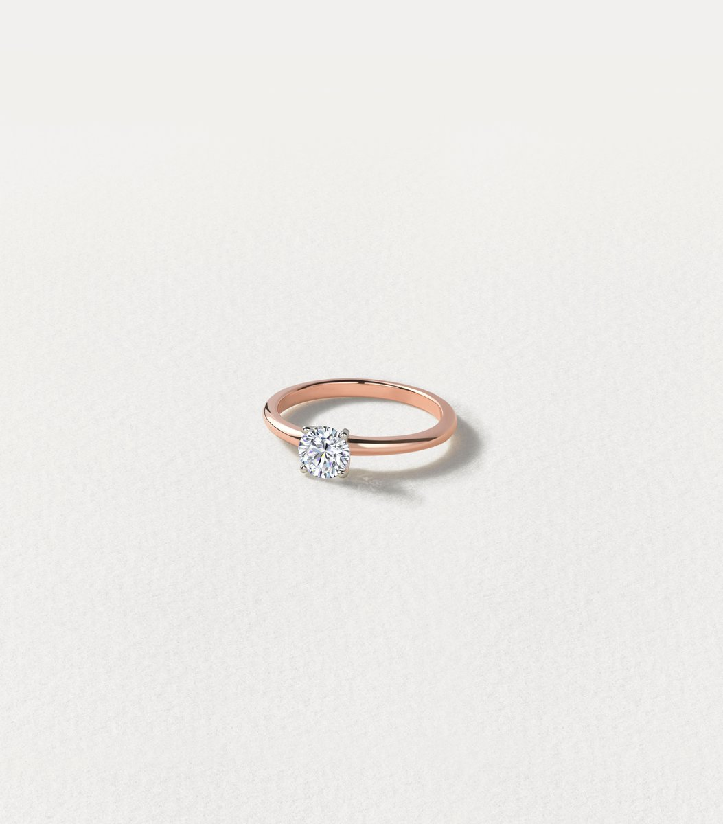 Update the classic solitaire ring by opting for a rose gold band.  #solitairering #solitairediamond #rosegoldengagementring #rosegoldring #diamondring pic.twitter.com/qAeYYRQQHy