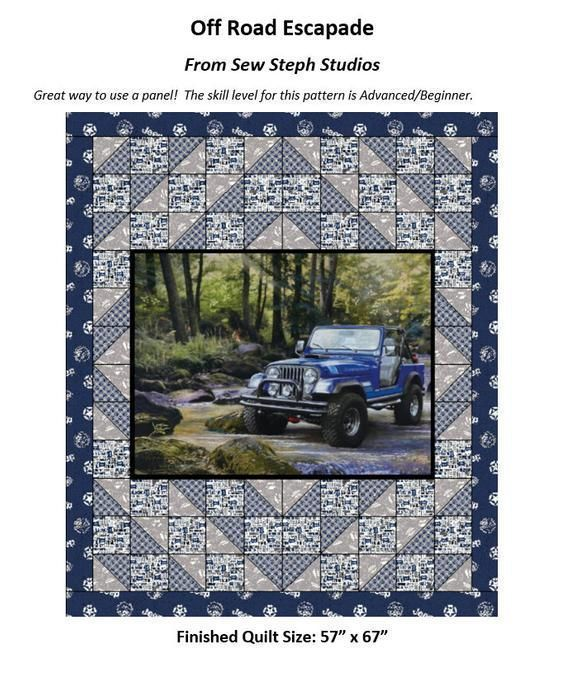 """NEW #Quilting #PATTERN in my shop!  #Offroad Escapade #QuiltPattern, 57"""" x 67"""",Skill Level: Advanced/Beginner #Sewing #Jeep #JeepLife https://buff.ly/2XxtDMXpic.twitter.com/0qVgyuu9wb"""
