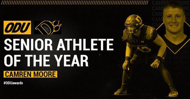 Congratulations @c_moore43 on being named @ODUAthletics Senior Athlete of the Year pic.twitter.com/biklH3R5W3