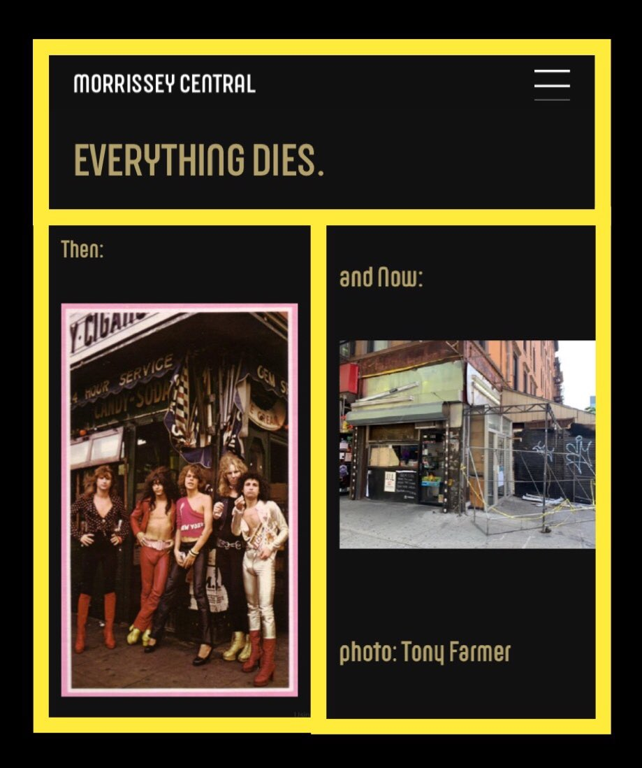 #MORRISSEY #GEMSPA TRIBUTE Honored to see this #tribute from @officialmoz on his website - https://www.morrisseycentral.com  . Morrissey is a cultural #icon & was the lead #singer of the 80's #rock #band,!the #Smiths (considered to be the pioneers of #indierock).#eastvillage #rocknroll pic.twitter.com/xNWJ1a3FH7