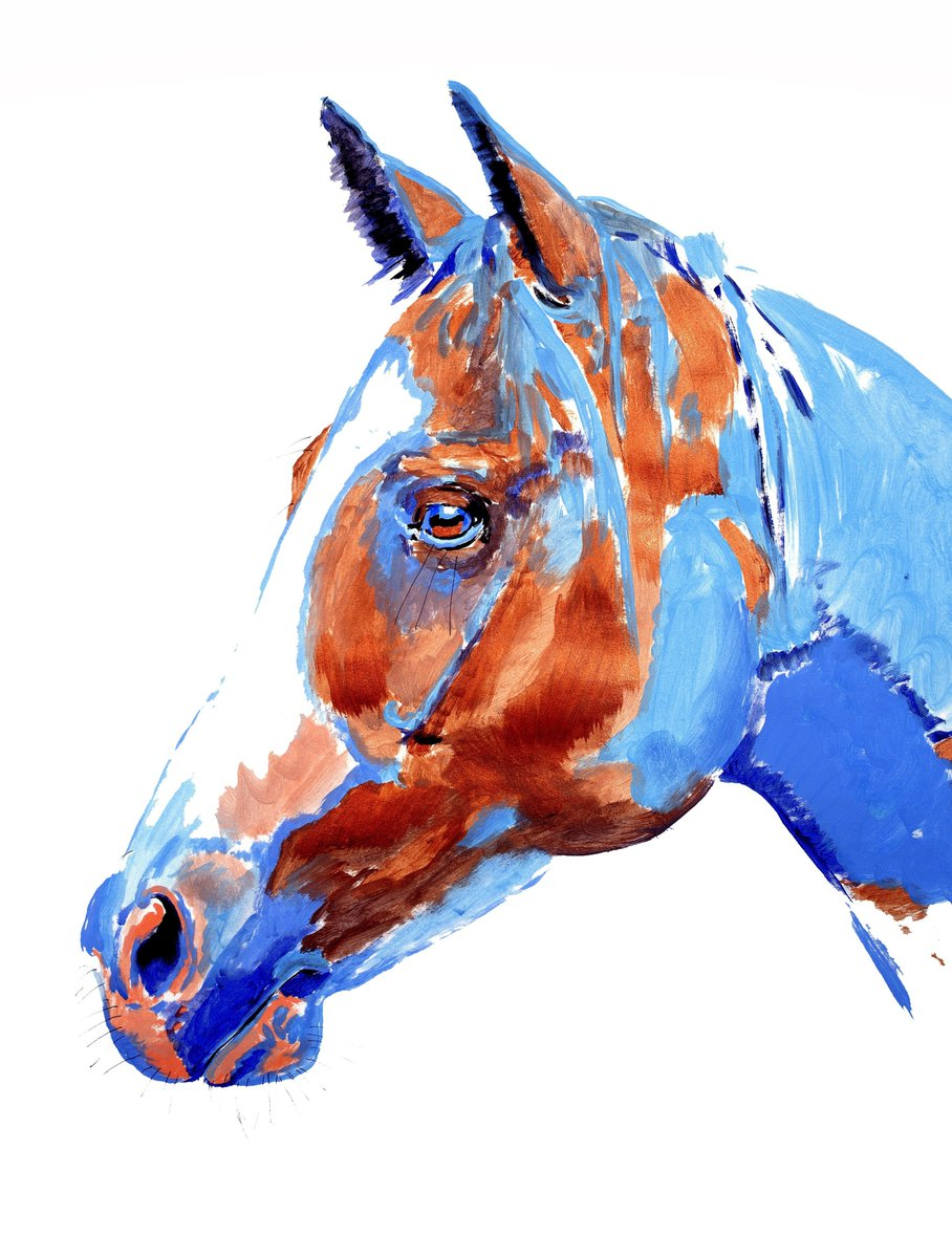 """Patch"" 24 x 18 inch ink and acrylic on paper. Available #ink #inked #inkedart #drawing #painting #paintings #acrylic #acrylicpainting #horses #equestrian #horseart #equineart #horse #equine #art #artist #artists #artwork #artstudio #fineart #contemporaryart #animals #portraitpic.twitter.com/Bcb12vDDNf"