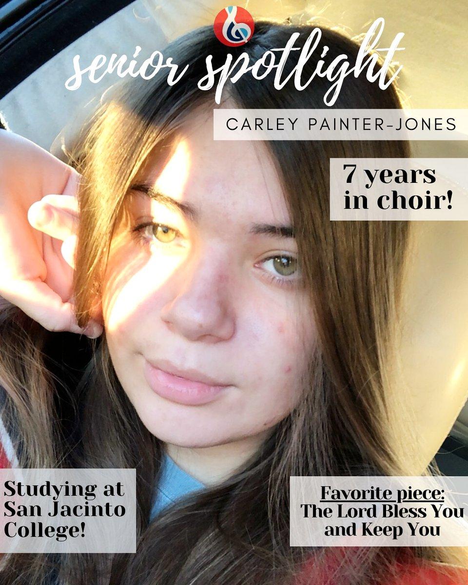 Senior Spotlight! Carley! We will miss you! #sopranos <br>http://pic.twitter.com/tc0fKplJHB