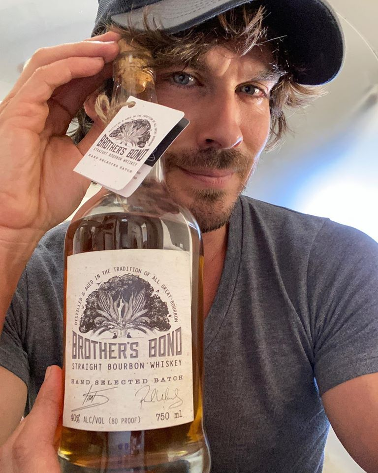 Paul Wesley and Ian Somerhalder launched Brother's Bond, their own brand of whiskey.🥂