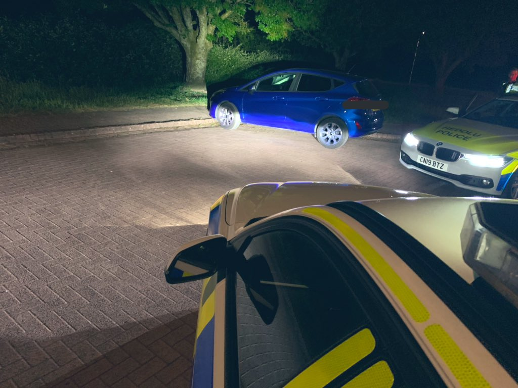 Inc 1583 - Caer Efail @SWPCardiff   This Fiesta sights our vehicle and makes off at speed.  A slight head start on us gave the driver just enough time to park up and leg it.   Vehicle located nearby and #seized   #Team2East ^5825 for 5490pic.twitter.com/brwVvxuSc8