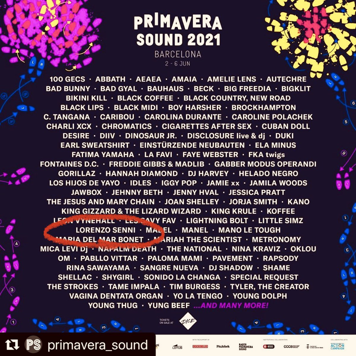 re-confirm @Primavera_Sound and looking forward to see many legendary bands and exciting acts! CANT WAIT!