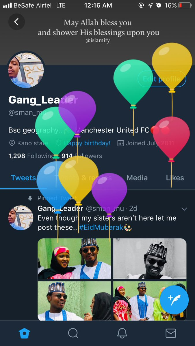 I've gotten the balloons finally, my birthday has come, and I am now ready for new heights and accomplishments. I pray for more grace and more bliss as the days go by. May I live to see the fulfillment of my days.. if you come across this please say a #prayer  pic.twitter.com/roWAPii73H