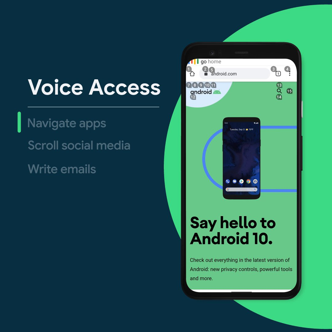 Voice Access allows you to control your Android phone hands free. Turn it on and start navigating with your voice: https://t.co/ZyIkx5hQV3 https://t.co/8nsgY0lVy8
