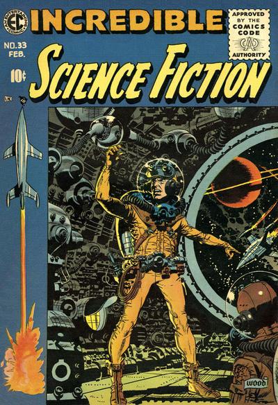 Astronauts on EC Comics covers. Covers by Wally Wood, Al Feldstein, & Al Williamson. #LaunchAmerica