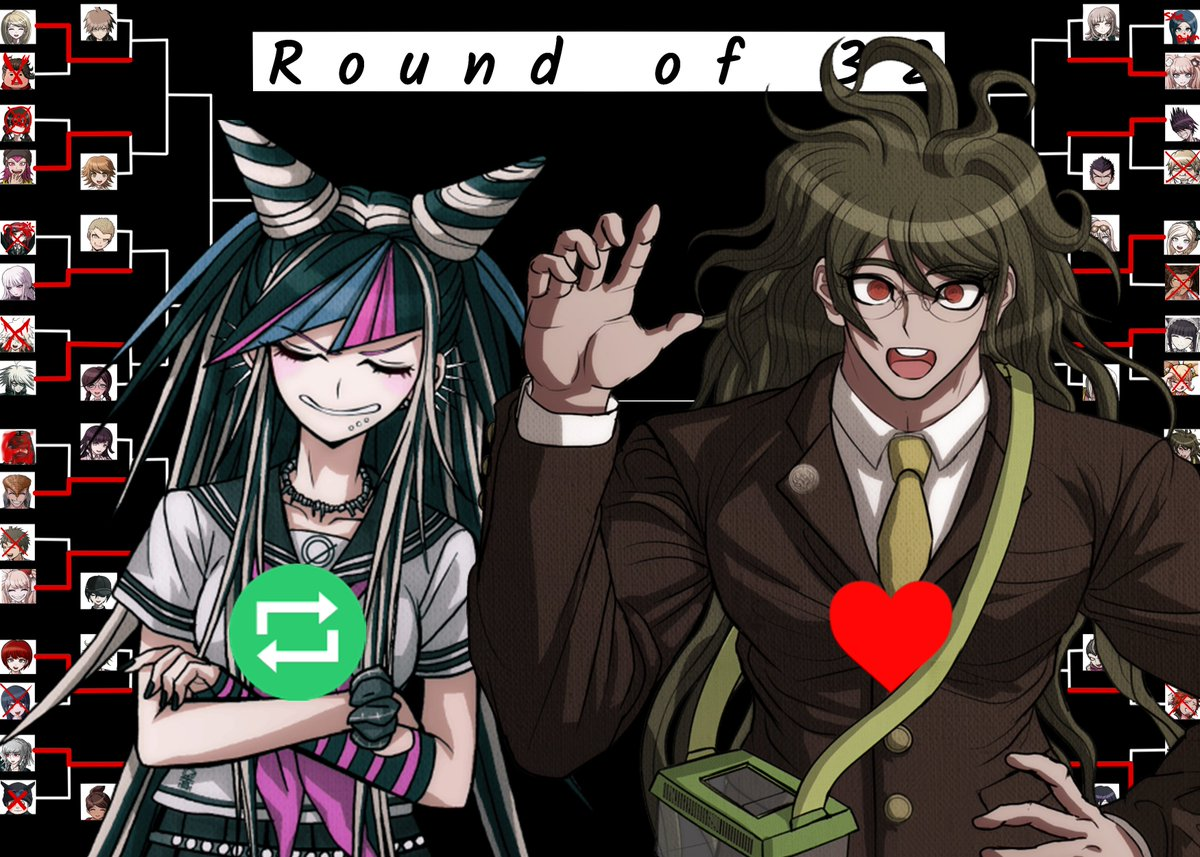 Here it is! The round of 32, match 13!  Today we're having:  Ibuki Mioda- The Ultimate Musician  vs.  Gonta Gokuhara- The Ultimate Entomologist<br>http://pic.twitter.com/TzV1Z7dqCY