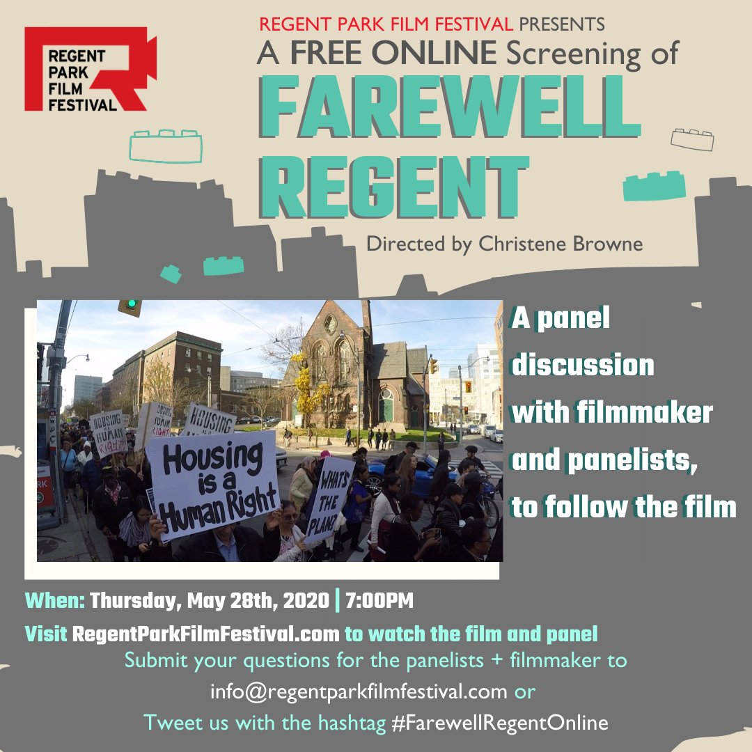 Look forward to engaging in conversation tomorrow about all the issues surrounding the largest social housing redevelopment in North America. Regent Park is my former home and the place where social housing began in Canada.  https://www.youtube.com/watch?v=picvfTQ4NhE… #home  #gentrification pic.twitter.com/9Ryc9NT9w2