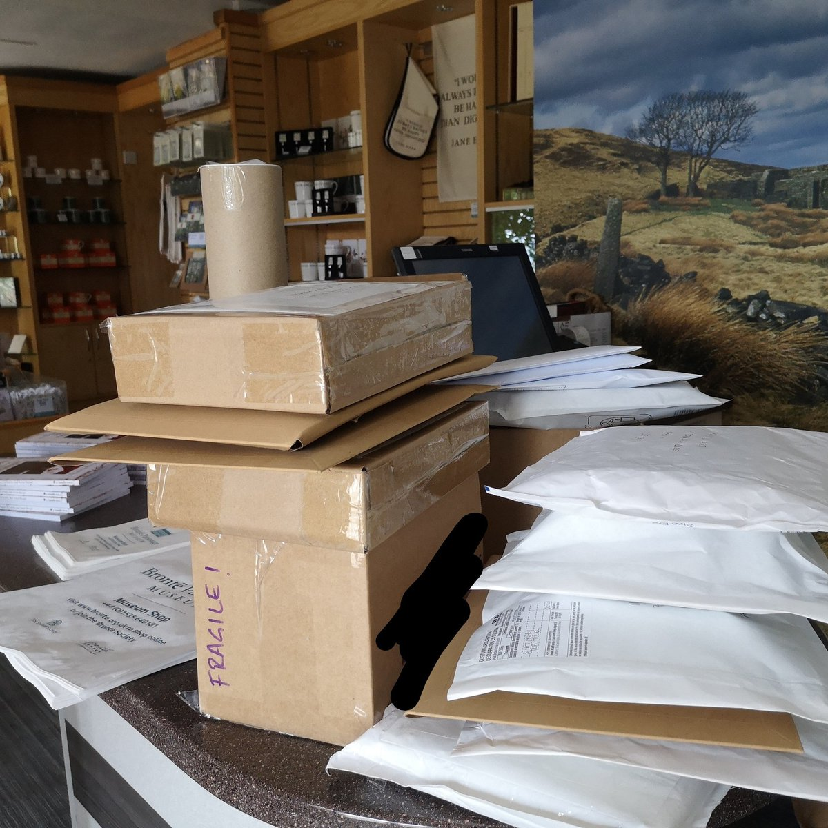 Thank you #Bronte shoppers! More online shop orders heading across the world today... Germany, Australia, Colerado, Iowa, Spain, Canada and across the UK. Have you visited http://www.bronte.org.uk/bronte-shop yet?pic.twitter.com/ZEgw3MsnOE