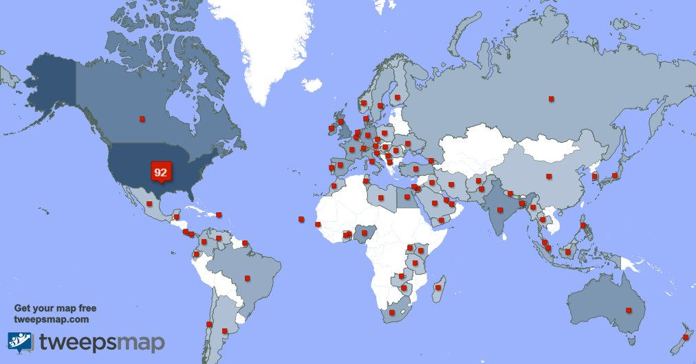 I have 96 new followers from USA 🇺🇸, Canada 🇨🇦, and more yesterday. See tweepsmap.com/!Vangie4Congre…
