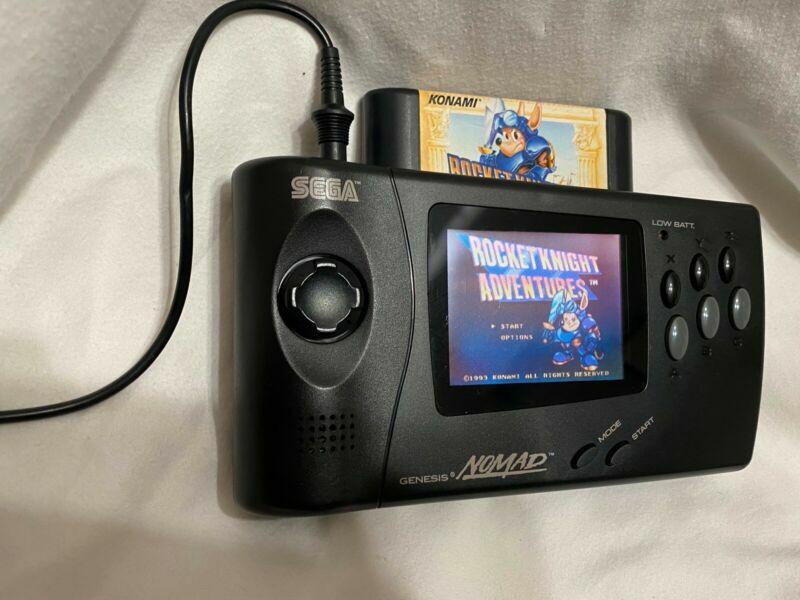 #Sega #Genesis #SegaNomad w/Power Adapter and Carry Case #retrogaming #ebay 🔥🔗