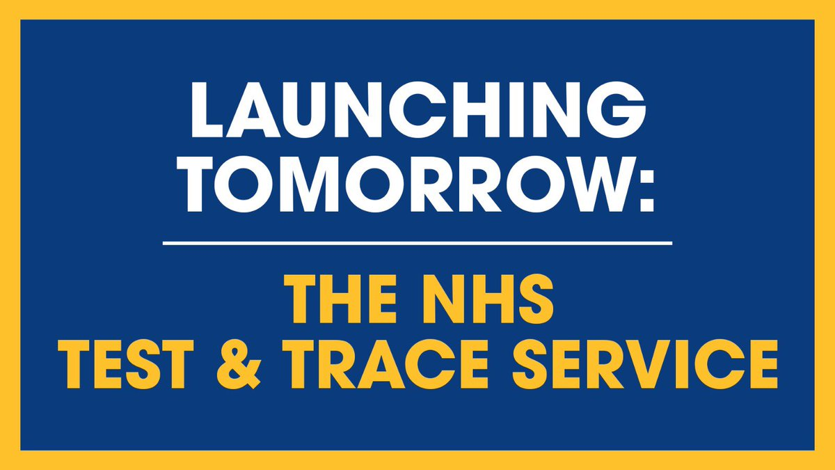 We're launching our NHS Test & Trace service in our #coronavirus battle. Full details: gov.uk/government/new…