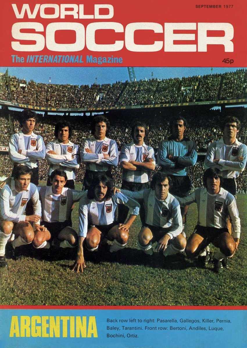 #Argentina prior to the friendly match against England in 1977.      World Soccer pic.twitter.com/OQqqSGU2eG