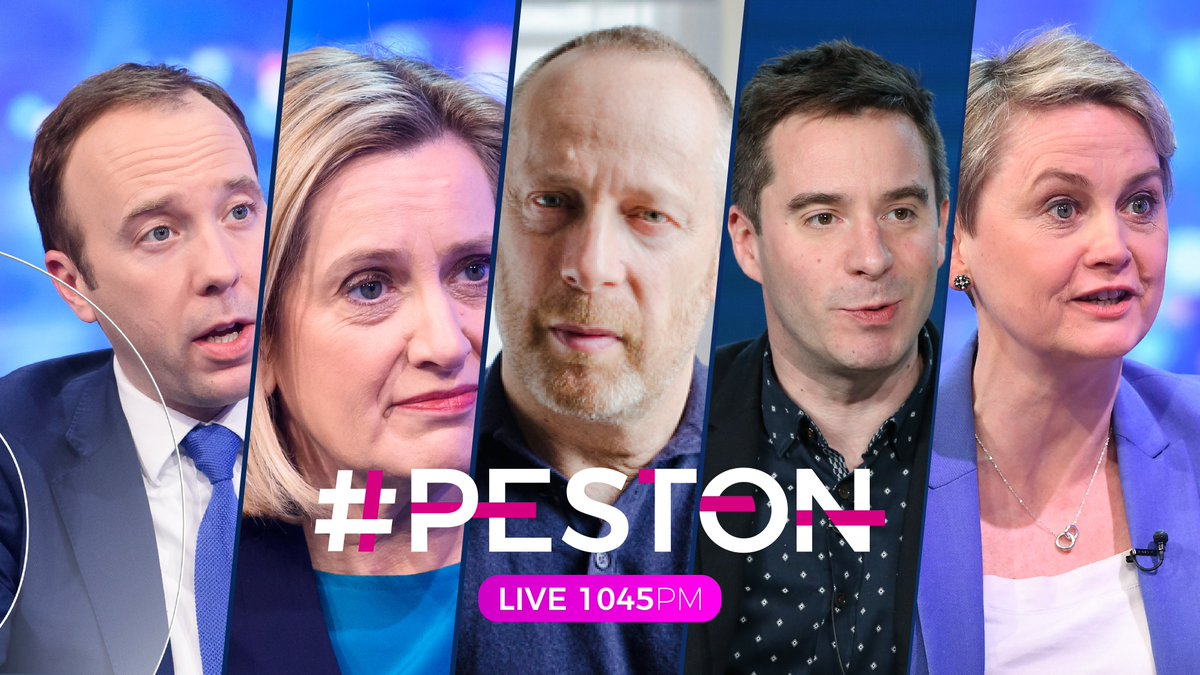 And heres our line up for tonight 👇 @peston & @AnushkaAsthana are joined by Secretary of State @MattHancock, behavioural scientist @ReicherStephen, playwright @mrJamesGraham, Former Home Sec @AmberRuddUK, and Labour MP @YvetteCooperMP 𝑳𝑰𝑽𝑬 1045𝑷𝑴 | 📺 @ITV | #peston