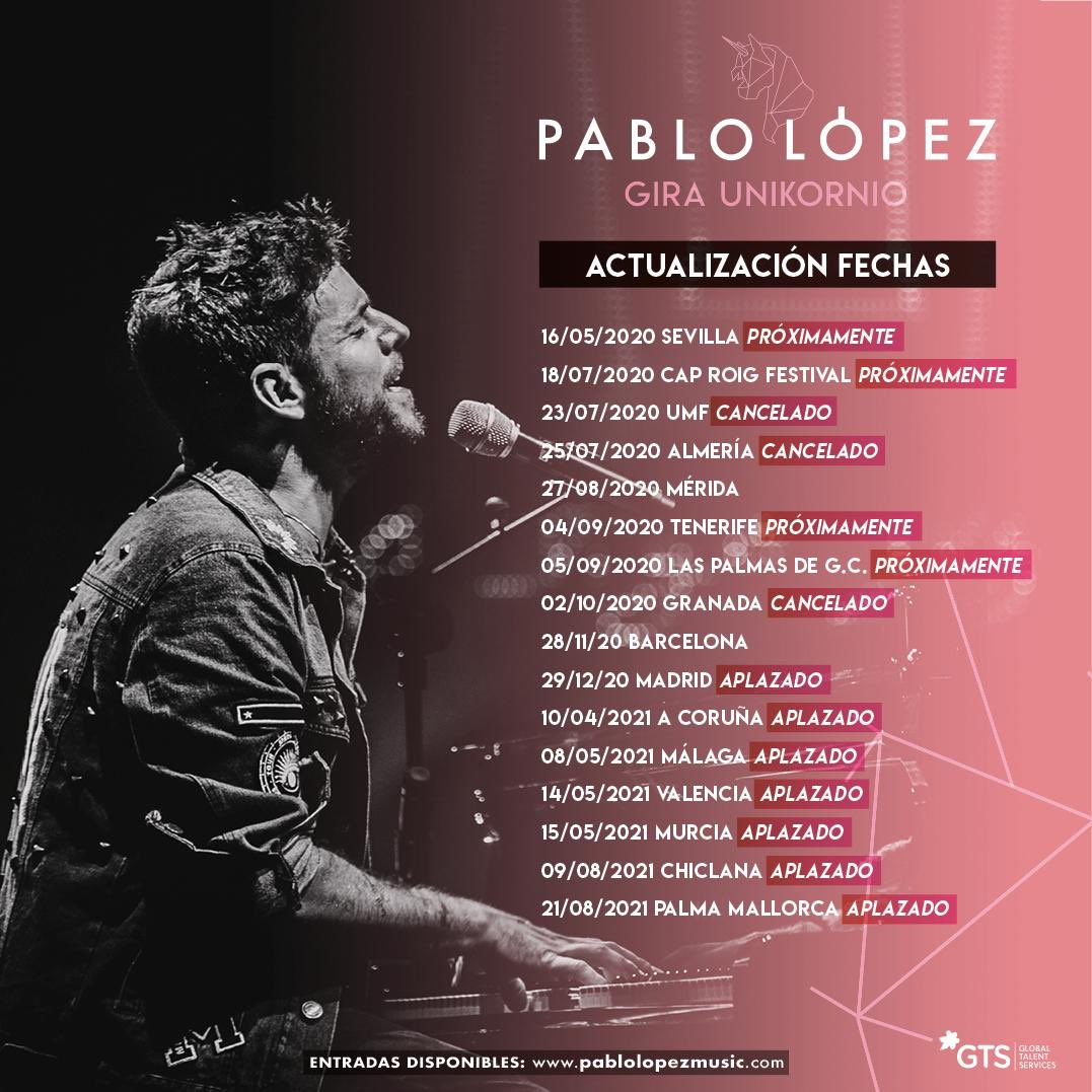 Replying to @PabloLopezMusic: Tenía muchas ganas de empezar a dar las nuevas fechas de nuestra locura voladora...