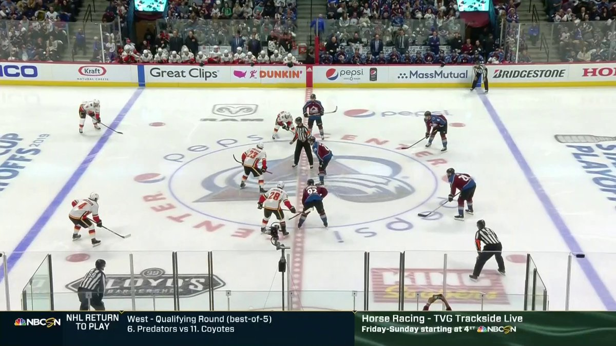 #HockeyHappyHour is LIVE!  We're throwing it back to the Flames and Avalanche from the 2019 Stanley Cup Playoffs and Cale Makar's NHL Debut. 🚨  📺: NBCSN 💻:
