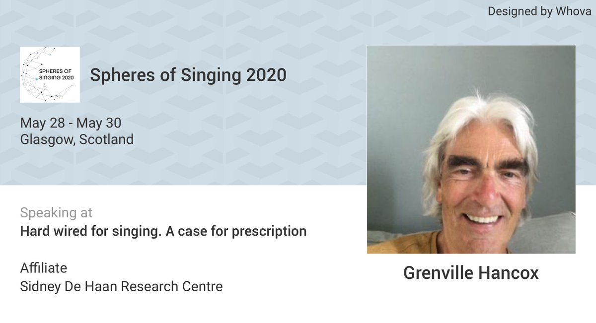 I am speaking at Spheres of Singing 2020. Please checkout the details of my talk at: whova.com/embedded/speak…