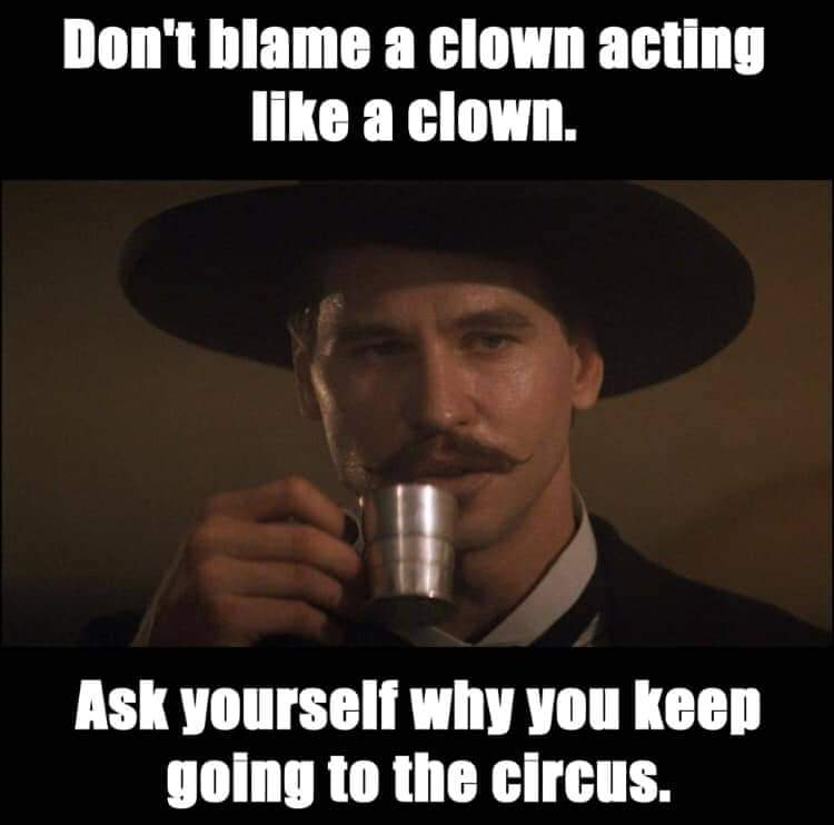 Stop going to the circus & voting for clowns. Vote for @realDonaldTrump & #WalkAway from the ppl who dont have your best interests in mind. Democrat politicians dont value life, our freedoms or our country. Theyre crazier than shithouse rats. #KAG2020 #MAGA #WWG1WGAWORLDWIDE