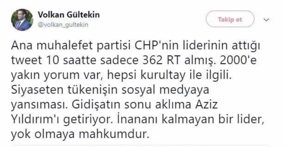 """HERŞEYE RAĞMEN SENİ TAKTİR EDİYORUM VOLKAN.👏 TWİTTER ÜZERİNDEN KENDİSİNE YAPTIĞIM YÜKLENMELER ÜZERİNE; """"bana dokunacak babayiğit bu belediyede bulunmaz, ben Kılıçdaroğlu'na hatta iyi partiye Çata Çata buralara geldim, bana kimsenin gücü yetmez""""deyip eski twitlerini hatırlatmış⤵️"""